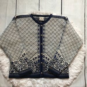 Dale Of Norway Button Up Wool Cardigan Sweater